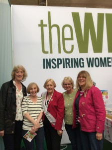 Sally, Gill, Raewyn & Anne at the WI Fair with Janice Langley - NFWI Chair
