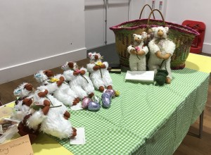 Linda made these lovely lambs to raffle to raise funds for the ACWW