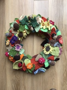Needlework Autumn Wreath
